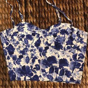 Topshop corset crop top - 4